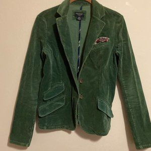 AMERICAN EAGLE OUTFITTERS Women's Green Blazer